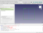 Software Freecad Screenshot, Ebene wählen